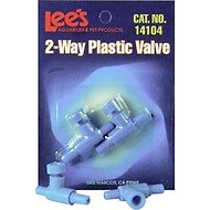 Lee's Aquarium & Pets Two Way Aquarium Plastic Valve, 2 pack