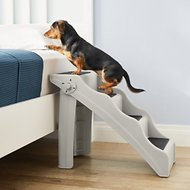 Frisco Foldable Nonslip Cat & Dog Stairs, Grey