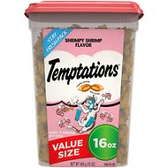 Temptations Shrimpy Shrimp Flavor Cat Treats, 16-oz tub