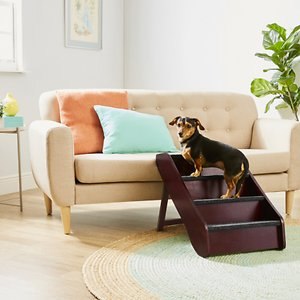 Frisco Deluxe Foldable Wood Carpeted Pet Stairs