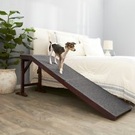 Frisco Deluxe Wood Carpeted Pet Ramp, Brown