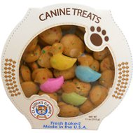 Claudia's Canine Bakery Spring Duck Shaped Baked Dog Treats, 11-oz tub