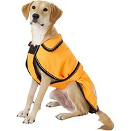 WeatherBeeta Reflective Orange 300D Deluxe Dog Parka, 26-in