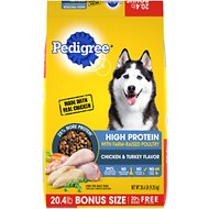 Pedigree High Protein Chicken & Turkey Flavor Adult Dry Dog Food, 20.4-lb bag