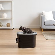 IRIS Top Entry Cat Litter Box & Scoop, Black/Gray