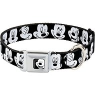 Buckle-Down Mickey Mouse Expressions Seatbelt Buckle Dog Collar, Large