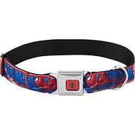 Buckle-Down Spider-Man Action Poses Seatbelt Buckle Dog Collar, Large