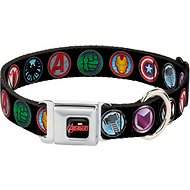 Buckle-Down Marvel Avengers Seatbelt Buckle Dog Collar, Wide Large