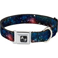 Buckle-Down Space Dust Seatbelt Buckle Dog Collar, Wide Large