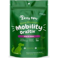 Zesty Paws Hip & Joint with Hemp, Bone Broth & Eggshell Membrane + Turmeric Curcumin Dental Stick Dog Treats, 12-oz bag
