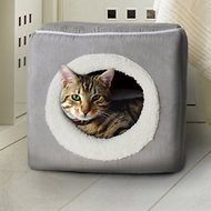 Petmaker Cozy Cave Enclosed Cube Covered Dog Bed