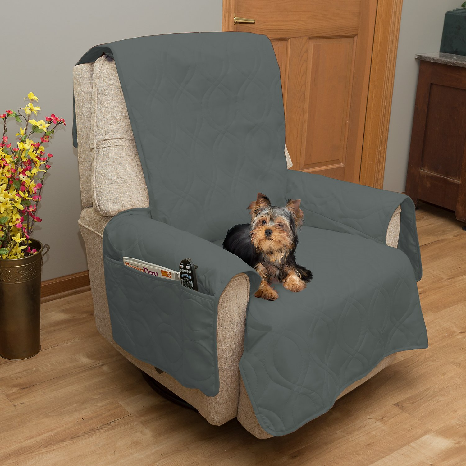 Petmaker Waterproof Furniture Cover Gray Chair Chewy Com