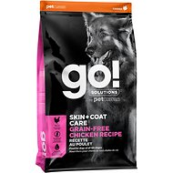 Go! Solutions Skin + Coat Care Grain-Free Chicken Recipe Dry Dog Food, 25-lb bag