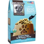 Wet Noses Peanut Butter & Molasses Flavor Grain-Free Dog Treats, 14-oz box