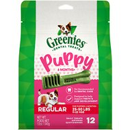 Greenies Puppy Regular Dental Dog Treats, 12 count