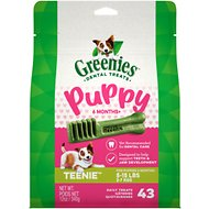 Greenies Puppy Teenie Dental Dog Treats, 43 count