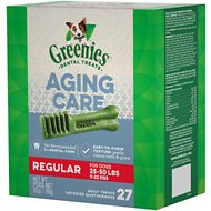 Greenies Aging Care Regular Dental Dog Treats, 27 count