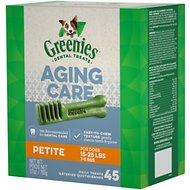 Greenies Aging Care Petite Dental Dog Treats, 45 count