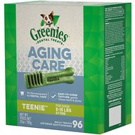 Greenies Aging Care Teenie Dental Dog Treats, 96 count