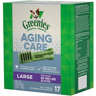Greenies Aging Care Large Dental Dog Treats, 17 count