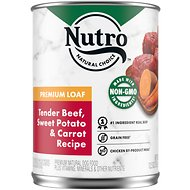 Nutro Premium Loaf Adult Tender Beef, Sweet Potato & Carrot Recipe Canned Dog Food, 12.5-oz, case of 13