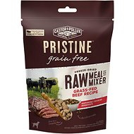 Castor & Pollux PRISTINE Freeze Dried Raw Meal or Mixer Grain-Free Grass-Fed Beef Recipe Dog Food Topper, 5.5-oz bag