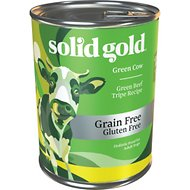 Solid Gold Green Cow Green Beef Tripe in Beef Broth Grain-Free Canned Dog Food, 13.2-oz, case of 6