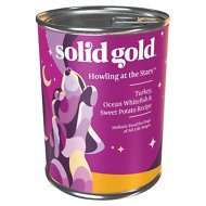 Solid Gold Howling at the Stars Turkey, Ocean White Fish & Sweet Potato Recipe Canned Dog Food, 13.2-oz, case of 6