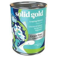 Solid Gold Leaping Waters Chicken & Salmon Recipe with Vegetable Recipe Grain-Free Small & Medium Breed Canned Dog Food, 13.2-oz, case of 6