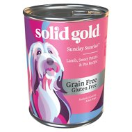 Solid Gold Sunday Sunrise Lamb, Sweet Potato & Pea Recipe Grain-Free Canned Dog Food, 13.2-oz, case of 6