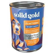 Solid Gold Fit & Fabulous Chicken, Sweet Potato & Green Bean Weight Control Recipe Grain-Free Canned Dog Food, 13.2-oz, case of 6