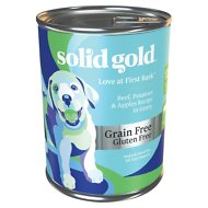 Solid Gold Love At First Bark Beef, Potatoes & Apples Puppy Recipe Grain-Free Canned Dog Food, 13.2-oz, case of 6