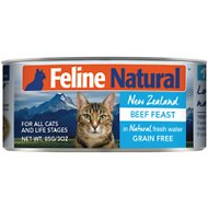 Feline Natural Beef Feast Grain-Free Canned Cat Food, 3-oz, case of 24