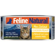Feline Natural Chicken Feast Grain-Free Canned Cat Food, 3-oz, case of 24