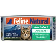 Feline Natural Lamb Feast Grain-Free Canned Cat Food, 3-oz, case of 24