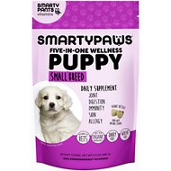 SMARTYPAWS Small Breed 5-in-1 Vitamin Puppy Supplement, 60 count