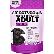 SMARTYPAWS Small Breed 5-in-1 Vitamin Dog Supplement, 60 count