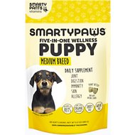 SMARTYPAWS Medium Breed 5-in-1 Vitamin Puppy Supplement, 60 count