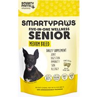 SMARTYPAWS Medium Breed 5-in-1 Vitamin Senior Dog Supplement, 60 count