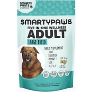 SMARTYPAWS Large Breed 5-in-1 Vitamin Dog Supplement, 60 count