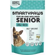 SMARTYPAWS Large Breed 5-in-1 Vitamin Senior Supplement, 60 count