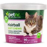 PetNC Natural Care Hairball Reduction Cat Soft Chews, 90 count