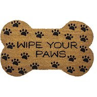 "Entryways ""Wipe Your Paws"" Bone Shape Doormat"