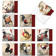The Best Card Company Chicken Assorted Blank Greeting Cards, 10-count