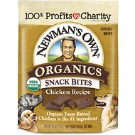 Newman's Own Organics Snack Bites Chicken Recipe Dog Treats, 4.5-oz bag
