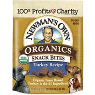 Newman's Own Organics Snack Bites Turkey Recipe Dog Treats, 4.5-oz bag