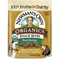 Newman's Own Organics Snack Bites Beef Recipe Dog Treats, 4.5-oz bag