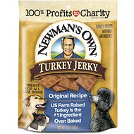 Newman's Own Turkey Jerky Original Recipe Dog Treats, 5-oz bag