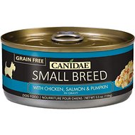 CANIDAE Small Breed Chicken, Salmon & Pumpkin in Gravy Canned Dog Food, 5.5-oz, case of 24