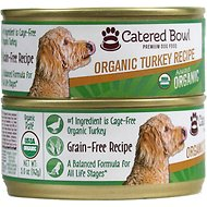Catered Bowl Organic Turkey Recipe Canned Dog Food , 5-oz, case of 24